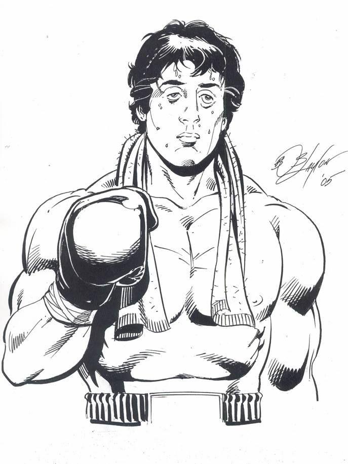 Rocky Balboa Coloring Page : rocky, balboa, coloring, Chiara, Crescenzi, Rocky, Balboa, Poster,, Balboa,, Badass, Drawings