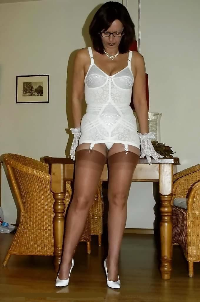 She has mature ladies wearing girdles want make