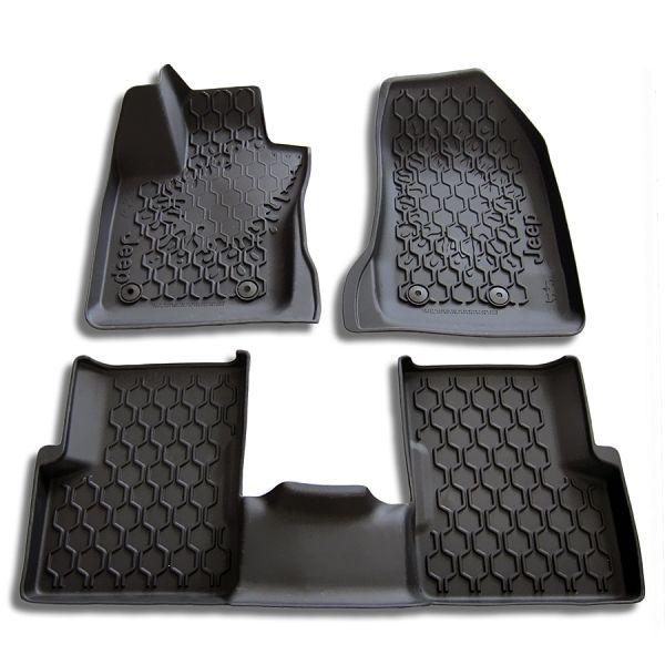 Jeep Renegade Slush Style Rubber Floor Mats With High Rim 3pc Set