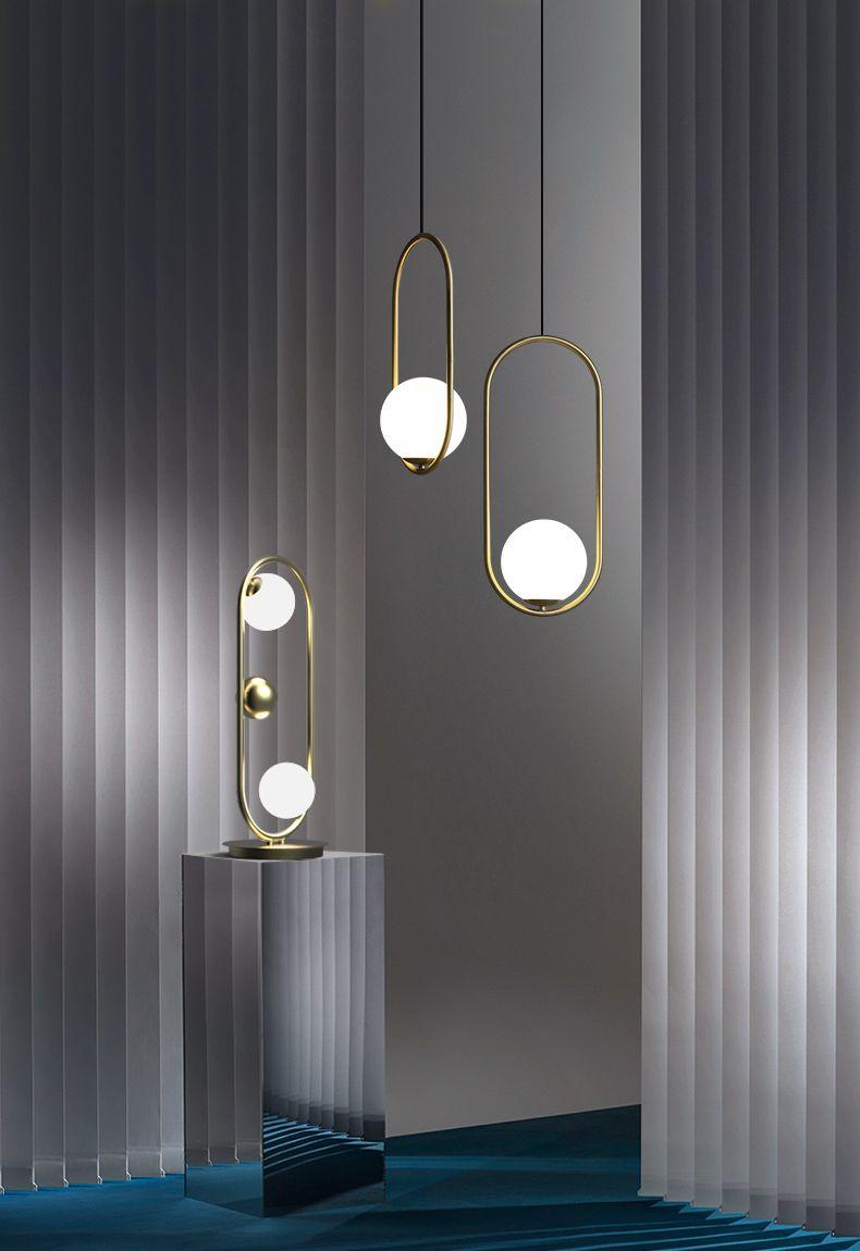 Modern Table Lamp Light –Gold Loop Ring