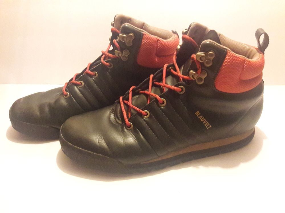 3a06cd344d2 Adidas Blauvelt Hiking Trail Boots Leather G56465 Size 9 Brown ...