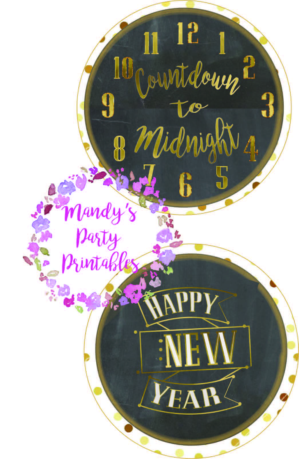 Countdown to Midnight New Year s Printables New year