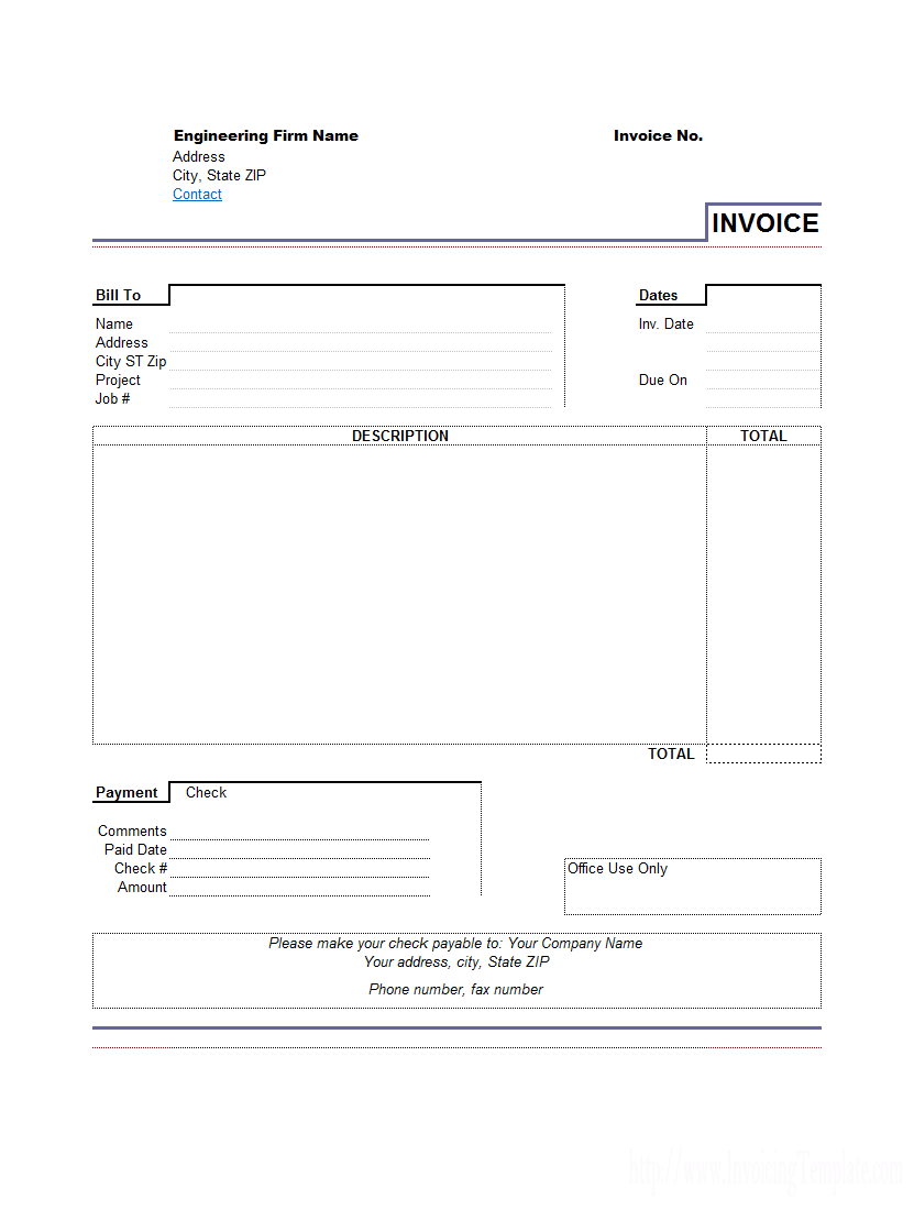 Doc Sample Invoice For Services Rendered Template Invoices Word Template Design Invoice Template Invoice Template Word