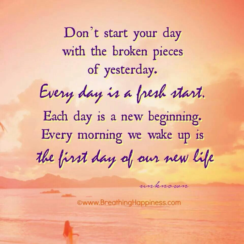 Everyday Is A New Day To Start Over New Day Quotes Over It Quotes Starting Over Quotes