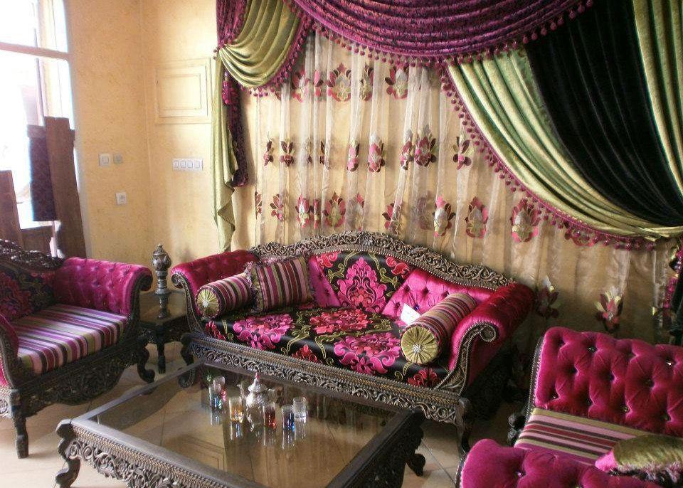 Tissu marocain du maroc pas cher salon marocain for Salon du tissu