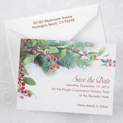 Save the Date Card for your winter themed wedding discounted 25 at