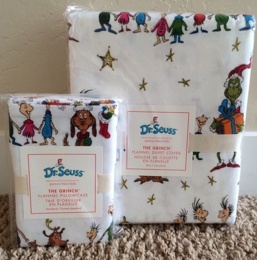 Pottery Barn Kids Dr Seuss Grinch Who Stole Christmas Twin