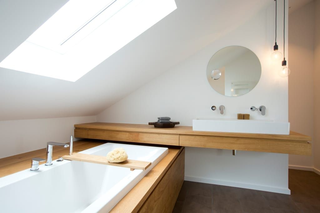 Waschtischmöbel moderne badezimmer von eva lorey innenarchitektur modern holz holznachbildung #simplebathroomdesigns