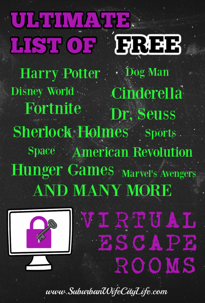 Ultimate List Of Free Virtual Escape Rooms Escape Room Escape Room For Kids Escape Room Game