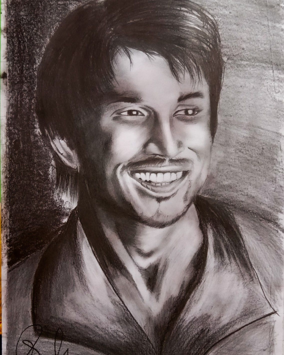 Portrait of sushant singh rajput   Portrait, Pencil sketch ...