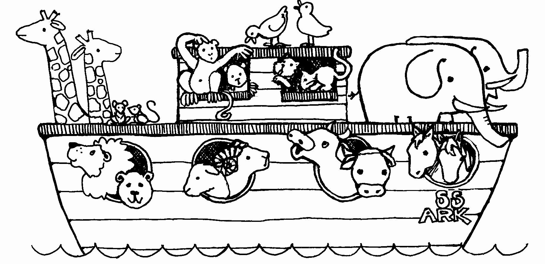 32 Noah S Ark Rainbow Coloring Page With Images