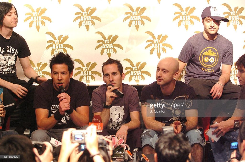 Simple Plan during MTV Asia Aid - Artists Press Conference at Metropolitan Hotel…