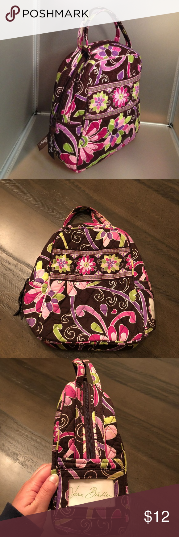 Retired Vera Bradley Lunch Bunch Bag Purple Punch Excellent condition.  Inside is lined. Lining 2ae3f45db0