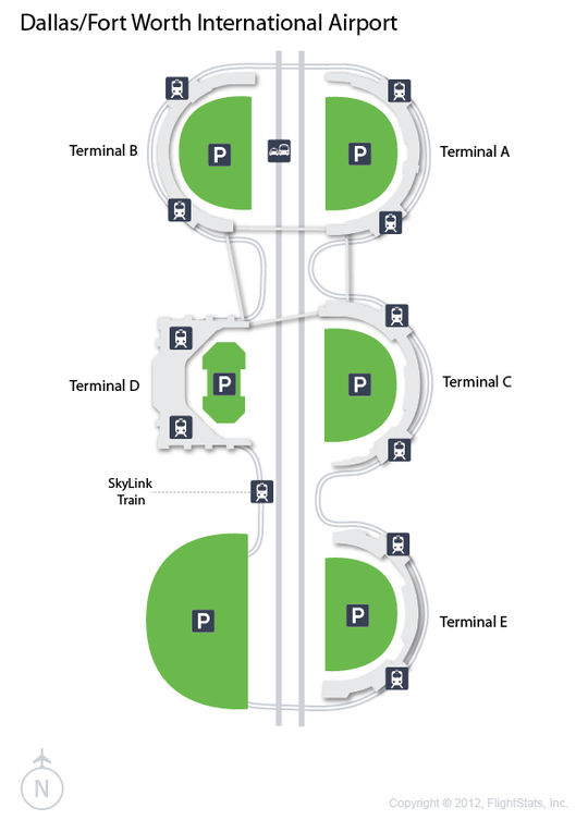 DFW) Dallas/Fort Worth International Airport Terminal Map   airports ...