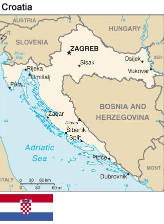 Croatia map places pinterest croatia map yacht week and buckets croatia map gumiabroncs Images