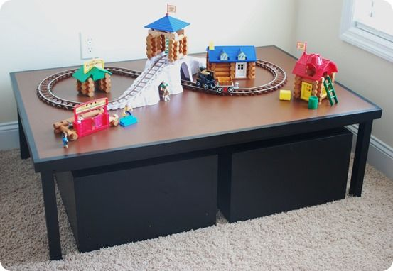 kids play table with storage carts let 39 s get organized kids play table pottery barn kids. Black Bedroom Furniture Sets. Home Design Ideas