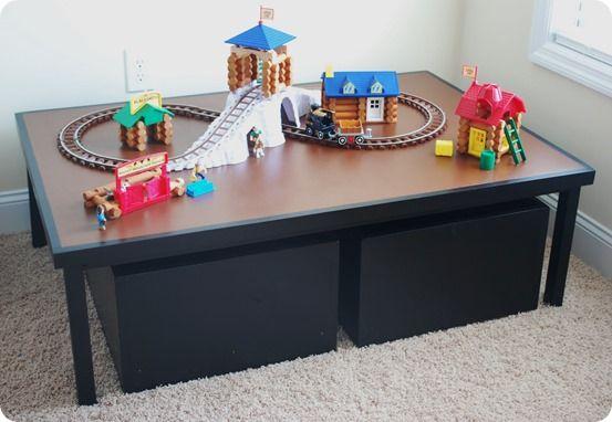 Kids Play Table With Storage Carts Cuarto De Los Ninos Recamara