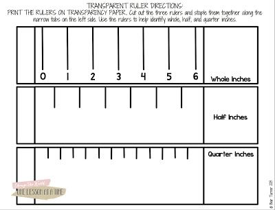 Diy Transparent Ruler Freebie Included Math Printable Ruler Math About Me