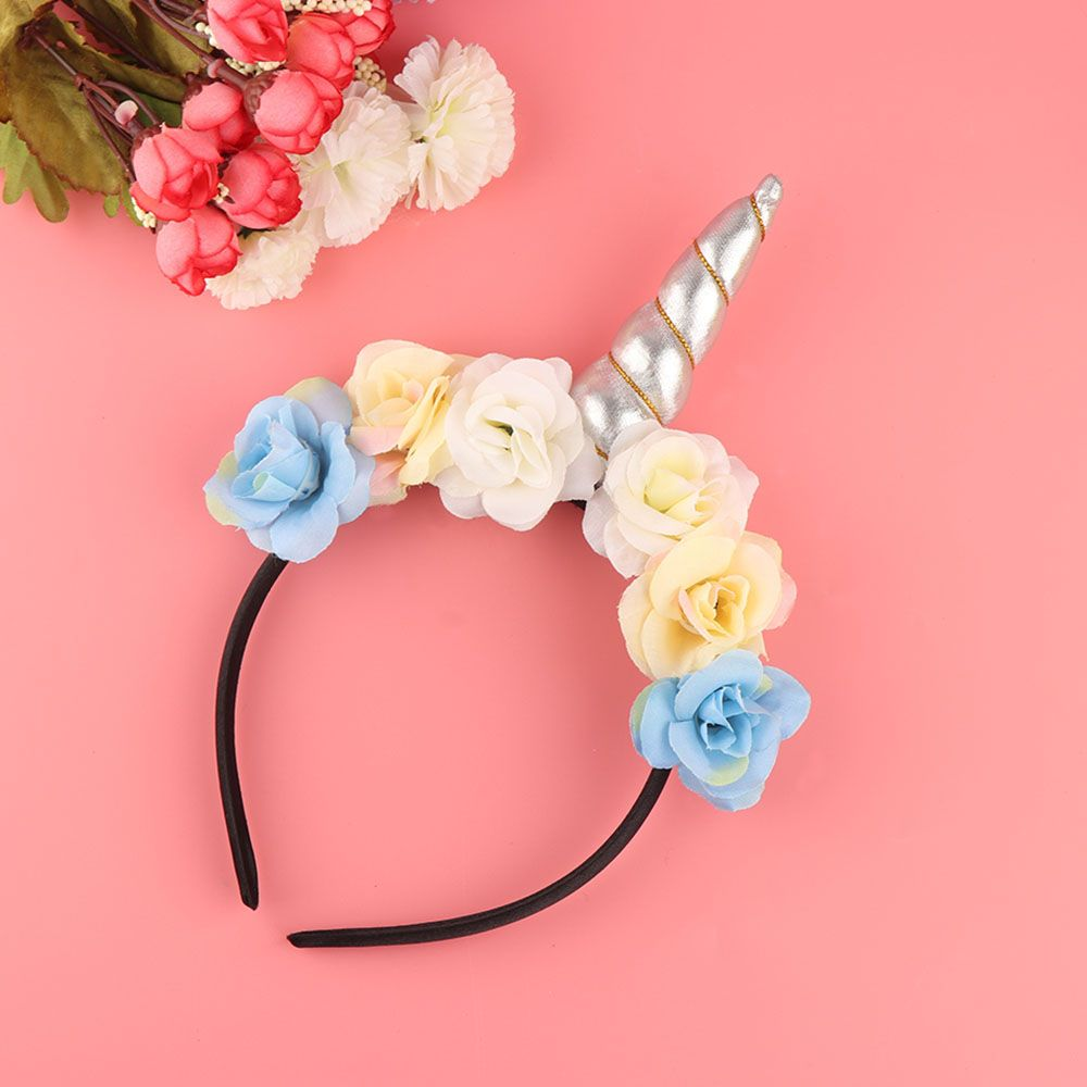1PC Unicorn Horn Child Headband Unicorn Girls Headwear Hairband Dress Up  Dress Photo Shoot Hair Band 92f029ae6de9