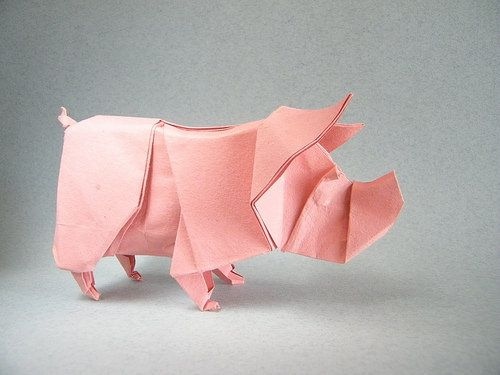 Pig Quentin Trollip Origami Kirigami And Diagram