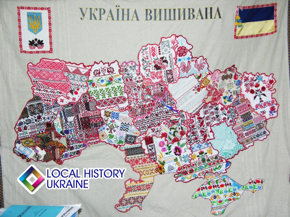 Map of Regional Ukrainian Embroidery patterns would be