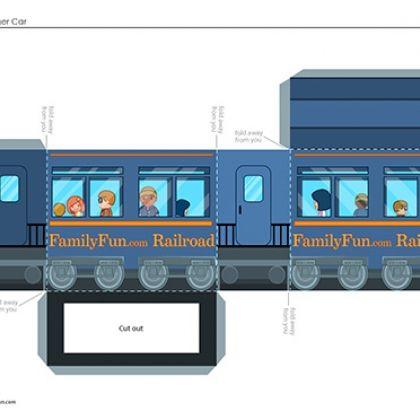 Train Craft Passenger Car Andrew Birthday Pinterest Printable