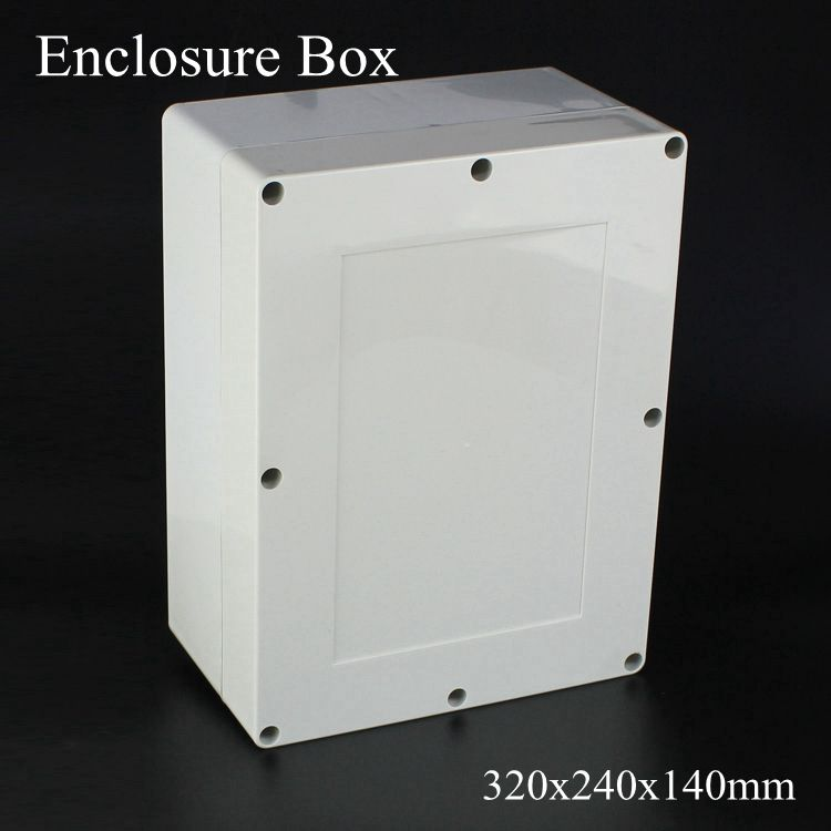 1 Piece Lot 320x240x140mm Grey Abs Plastic Ip65 Waterproof Enclosure Pvc Junction Box Electronic Project Instru Electronics Projects Enclosure Locker Storage