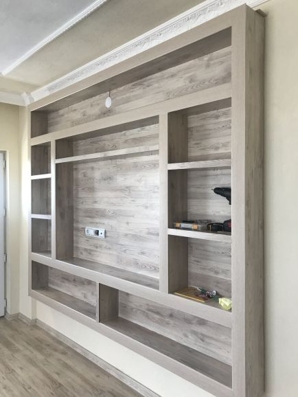 Photo of bookcase wall unit designs