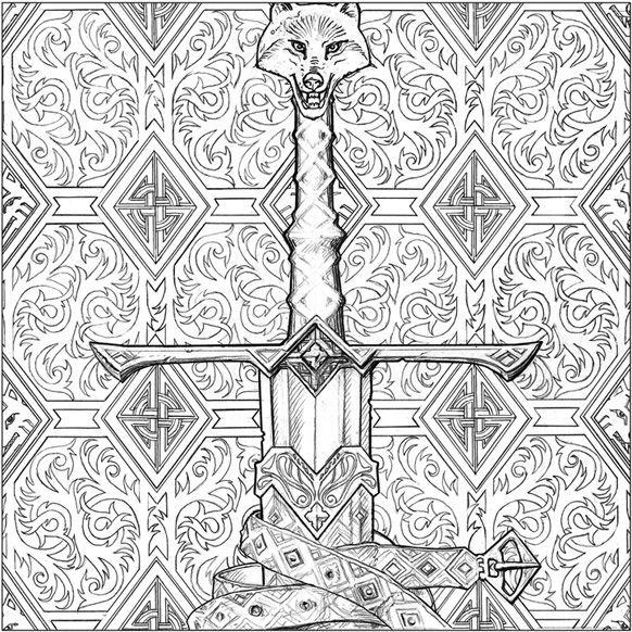 Longclaw illustration by John Howe for A Game of Thrones Colouring