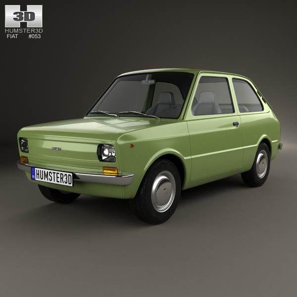 3d Model Of Fiat 133 1977 Fiat Fiat Cars Good Looking Cars
