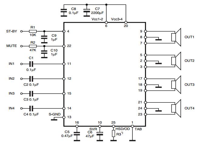 Audio Amplifier Circuits: MOSFET quad bridge | AMPLIFIER | Pinterest
