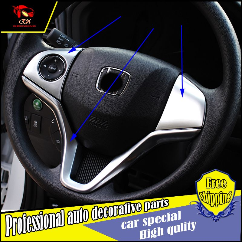 Abs Chrome Steering Wheel Protection Circle Sequins Cover Sticker For Honda Hrv Vezel 2014 2016 Steering Wheel Trim Accessori Auto Replacement Parts Honda