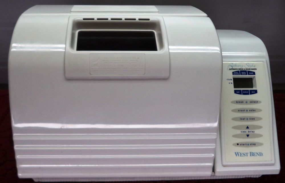 West Bend Bakery Style Dough  Bread Maker 2 LB Loaf  Model 41085 Dual Paddle #WestBend $65