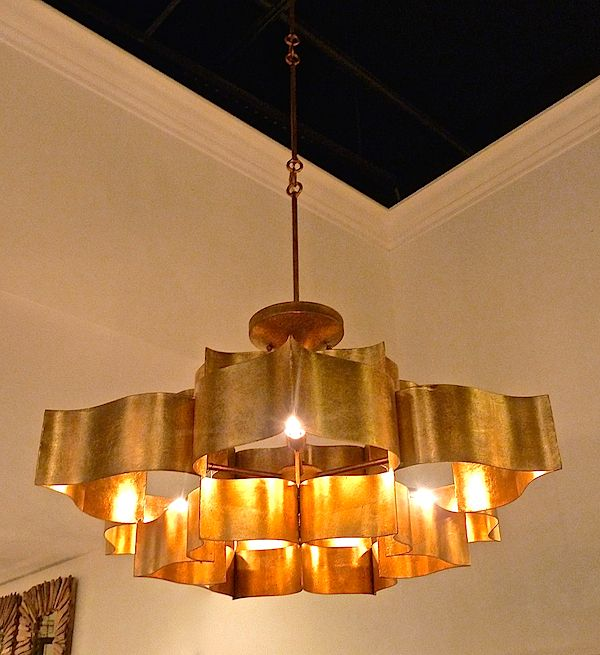 Currey And Company Lotus Chandelier: Going For The Gold At High Point