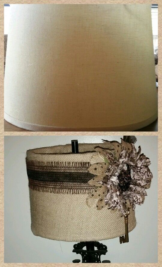 Hobby Lobby Lamp Shades Enchanting An Old Lamp Shade I Couldn't Replace Due To The Vintage Cast Iron Design Ideas