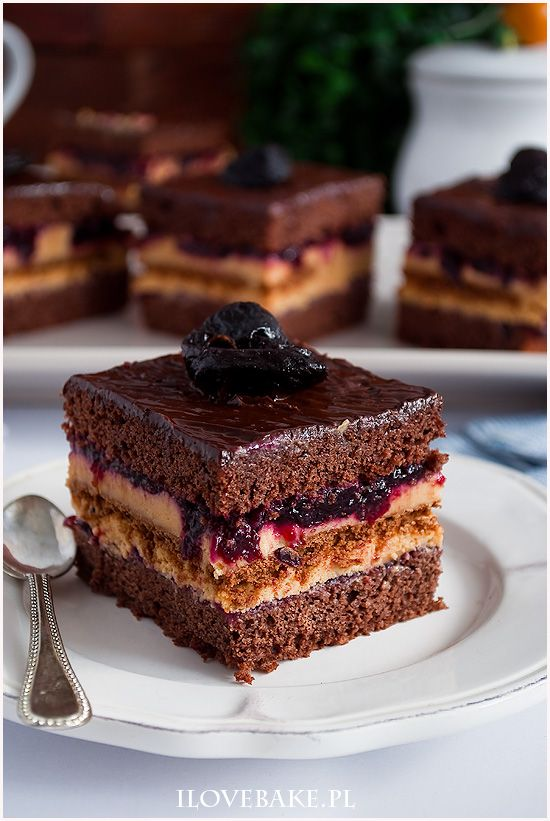Ciasto kajmakowa porzeczka  - I Love Bake