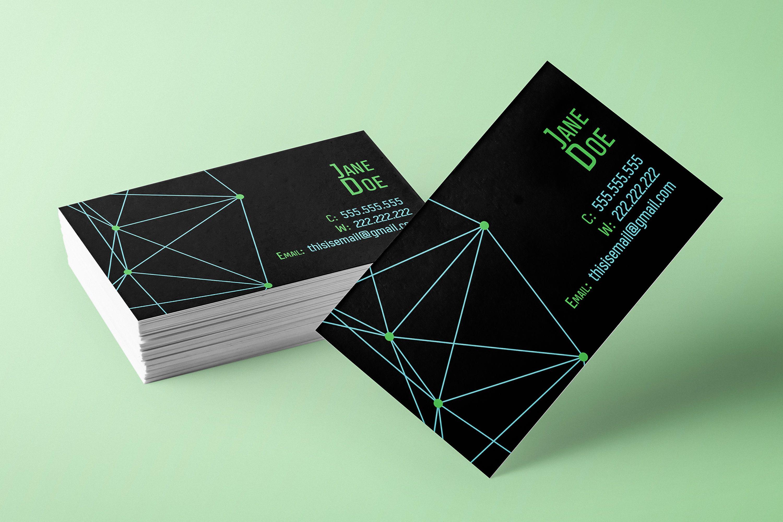 Geometric Sci Fi Cyberpunk Business Card Printable Customizable Text Colors By Creativewizardry On Make Business Cards Card Design Business Card Design