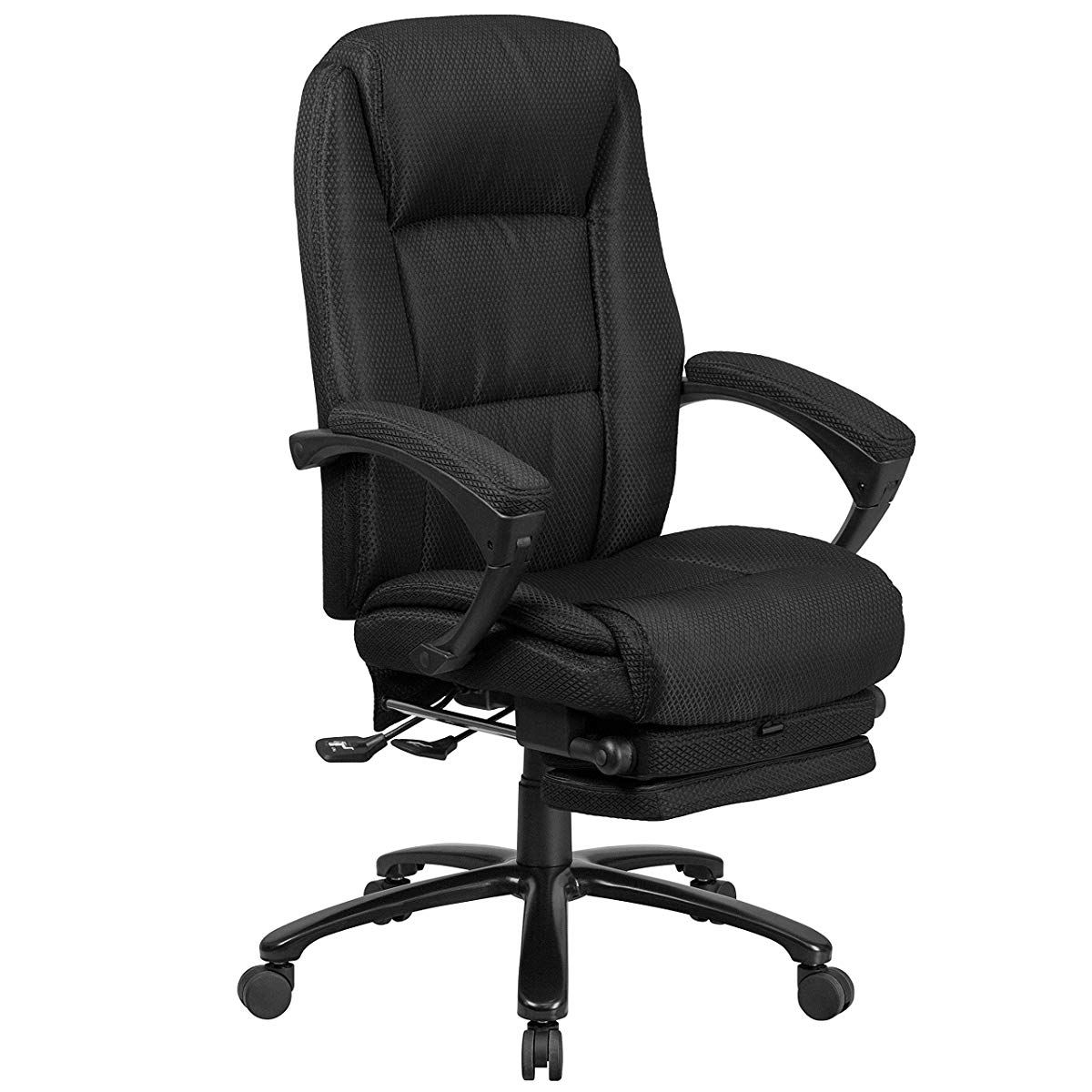 High Back Black Fabric Executive Reclining Swivel Office
