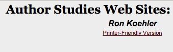 Westford Public Schools - Author Studies Web Sites: Kindergarten