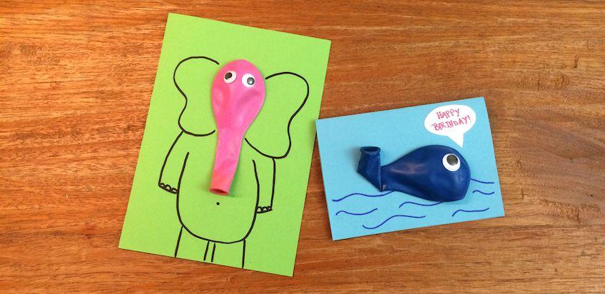 3d Karten Aus Luftballons Geschenke Cards Diy For Kids Und