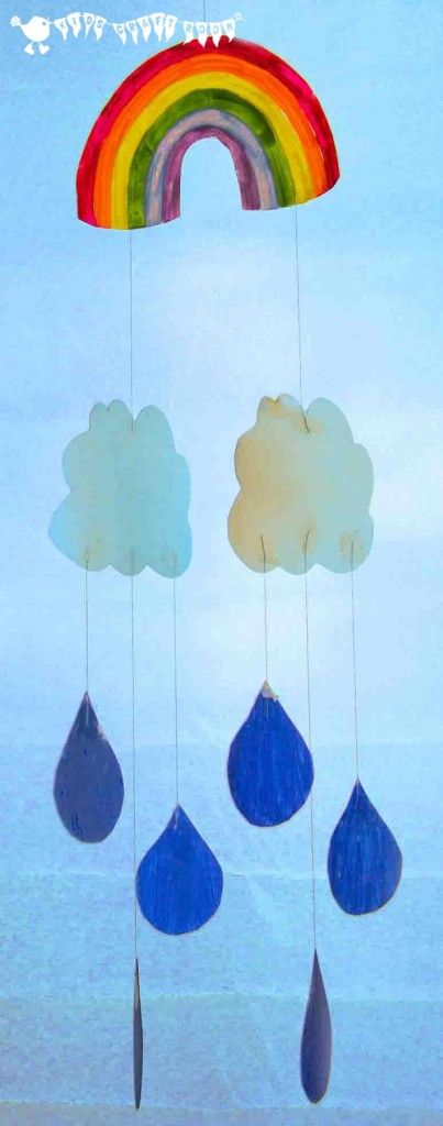 Make a beautiful upcycled milk jug RAINBOW MOBILE.