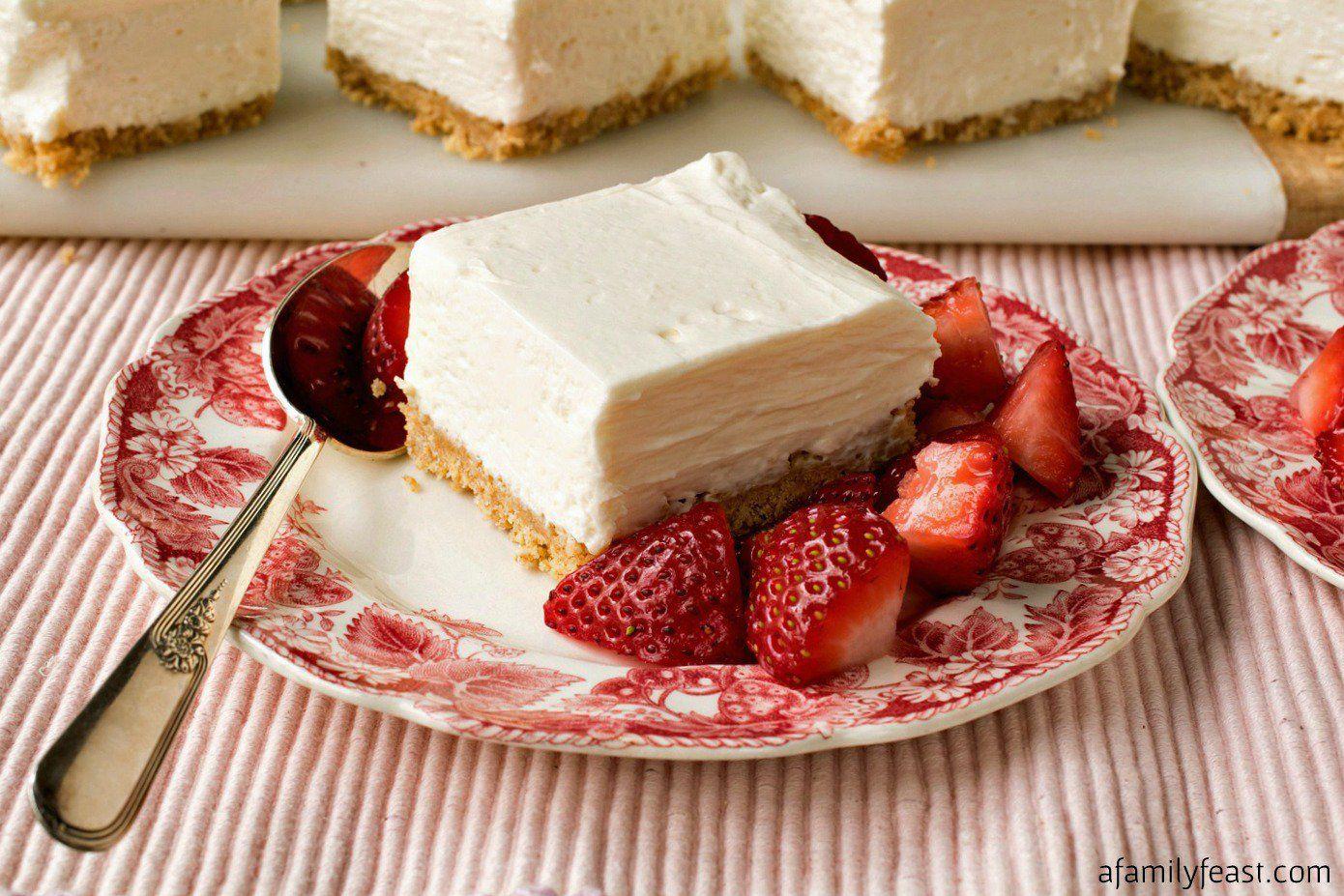 No Bake Greek Yogurt Cheesecake Squares Recipe Greek Yogurt Cheesecake Baking Cheesecake Squares