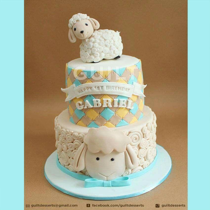 Sheep Birthday Cake Craf Pinterest Cake Birthday Cake And