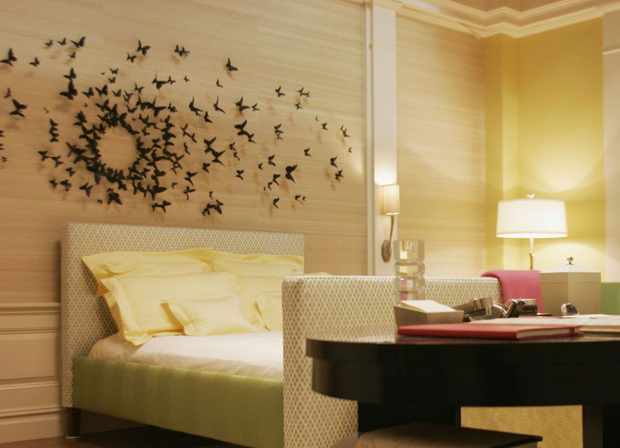 butterfly art wall decor installation in serena\'s room on gossip ...