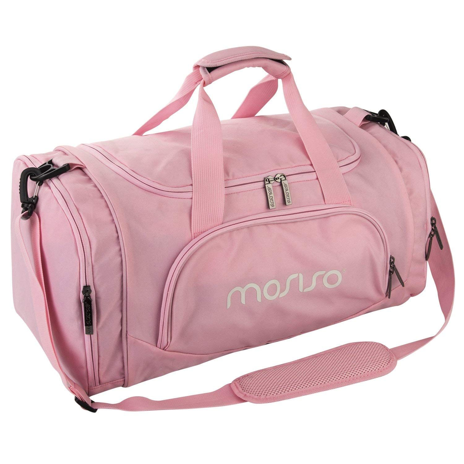 4fd5508aa825 MOSISO Polyester Fabric Foldable Gym Bag Sports Travel Overnight ...