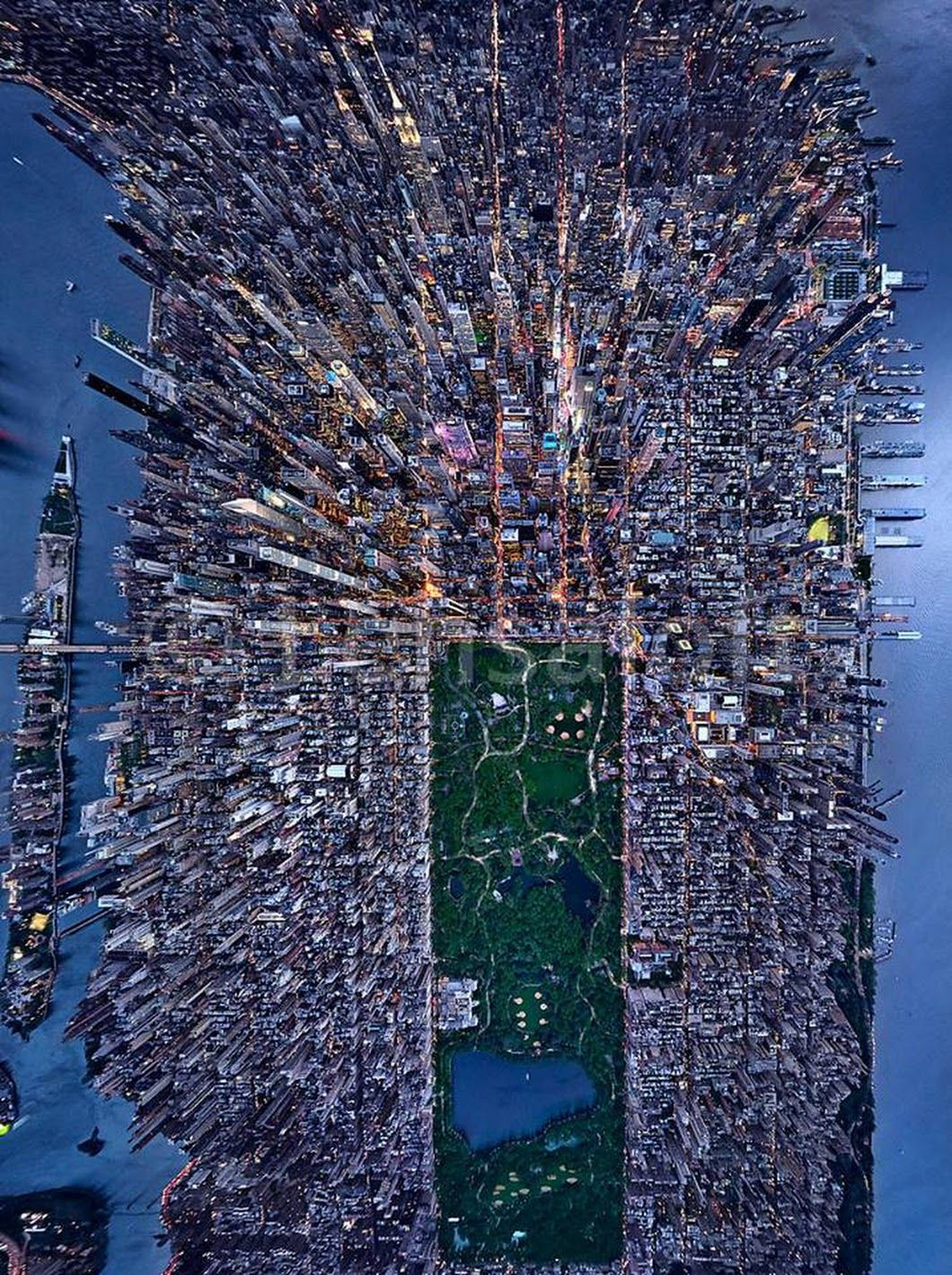 New York City Urban Garden: Aerial View Of New York City. Photo/Andrew Griffiths