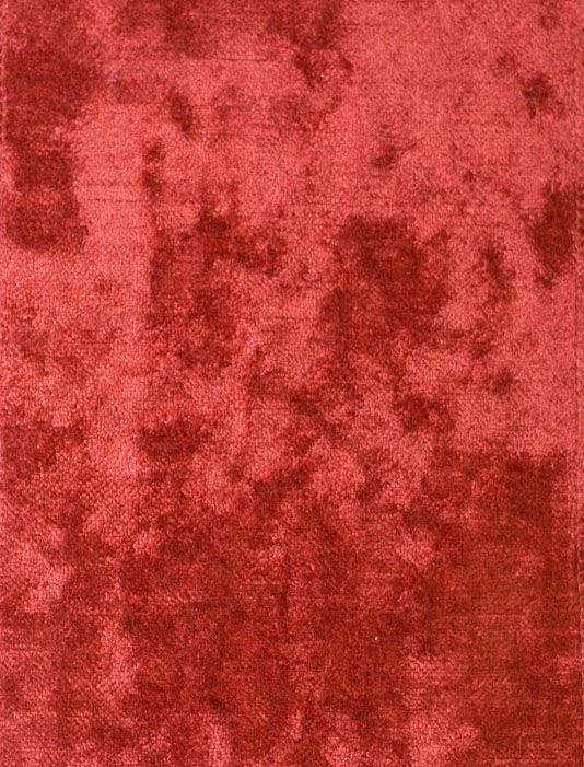 Dappled Plain Upholstery Fabric Red | Mulberry Home Weekend Velvet Collection #velvetupholsteryfabric