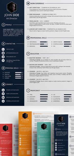 Free Creative Resume Template PSD ID Typography Design
