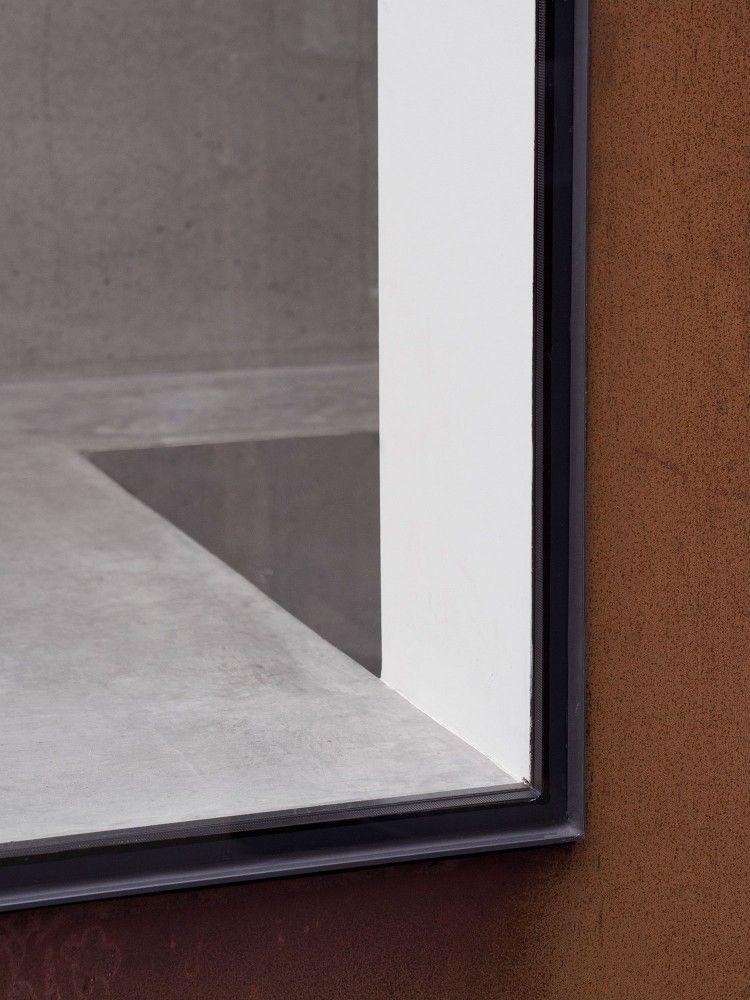 Steel window and corten steel facade detail by McLaren.Excell ...
