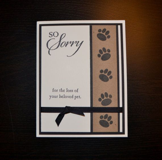 Pet Sympathy Card Loss of Pet Card Dog by LizzyJaneBoutique Card